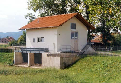 Hebewerk / Regenrückhaltebecken in Forchheim